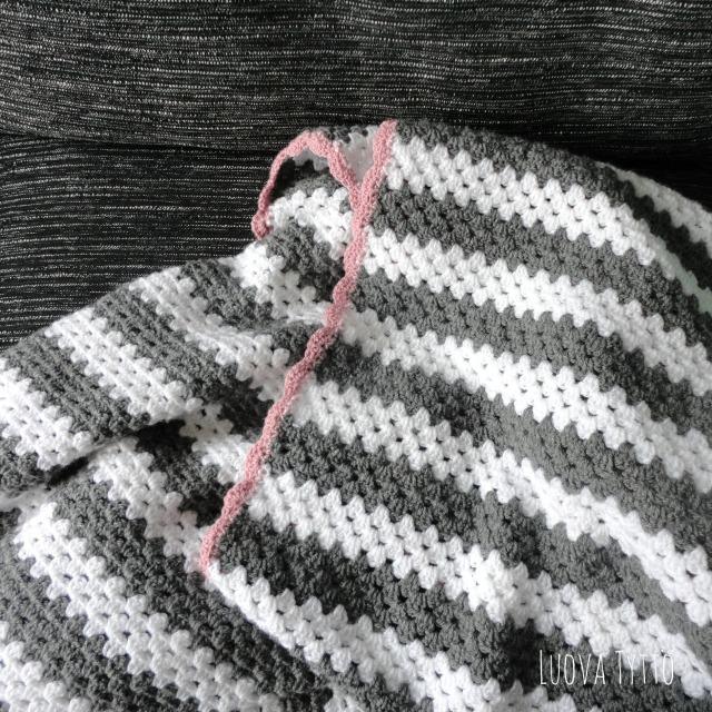 Granny stripe deken